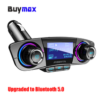 Dual USB Car Charger FM Transmitter Aux Modulator Bluetooth 5.0 Handsfree Car Kit Car Audio MP3 Player w/ Smart Charge