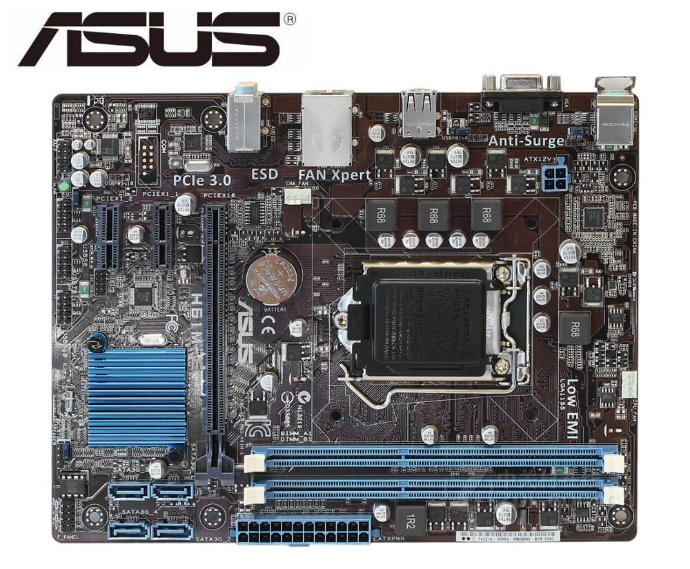 ASUS H61M-E Original Motherboard   DDR3 LGA 1155 USB2.0 For I3 I5 I7 CPU 16GB H61 USED Desktop Motherboard