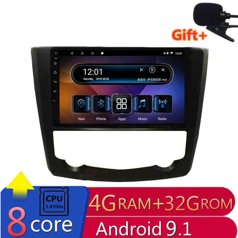 "9"" 4G RAM 2.5D IPS 8 CORE Android 9.1 Car DVD Multimedia Player GPS For Renault Kadjar 2015 2016 2017 car radio navigation WIFI"
