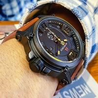 NAVIFORCE-reloj analógico de cuarzo para hombre, accesorio de pulsera resistente al agua con calendario, complemento masculino deportivo de marca de lujo con diseño militar del ejército