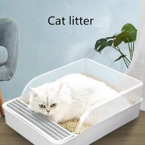 Koty kuweta kuweta dla zwierzaka Bedpan przeciw rozpryskom kot pies taca kuweta dla zwierzaka pies czysta toaleta strona główna plastikowe pudełko z piaskiem