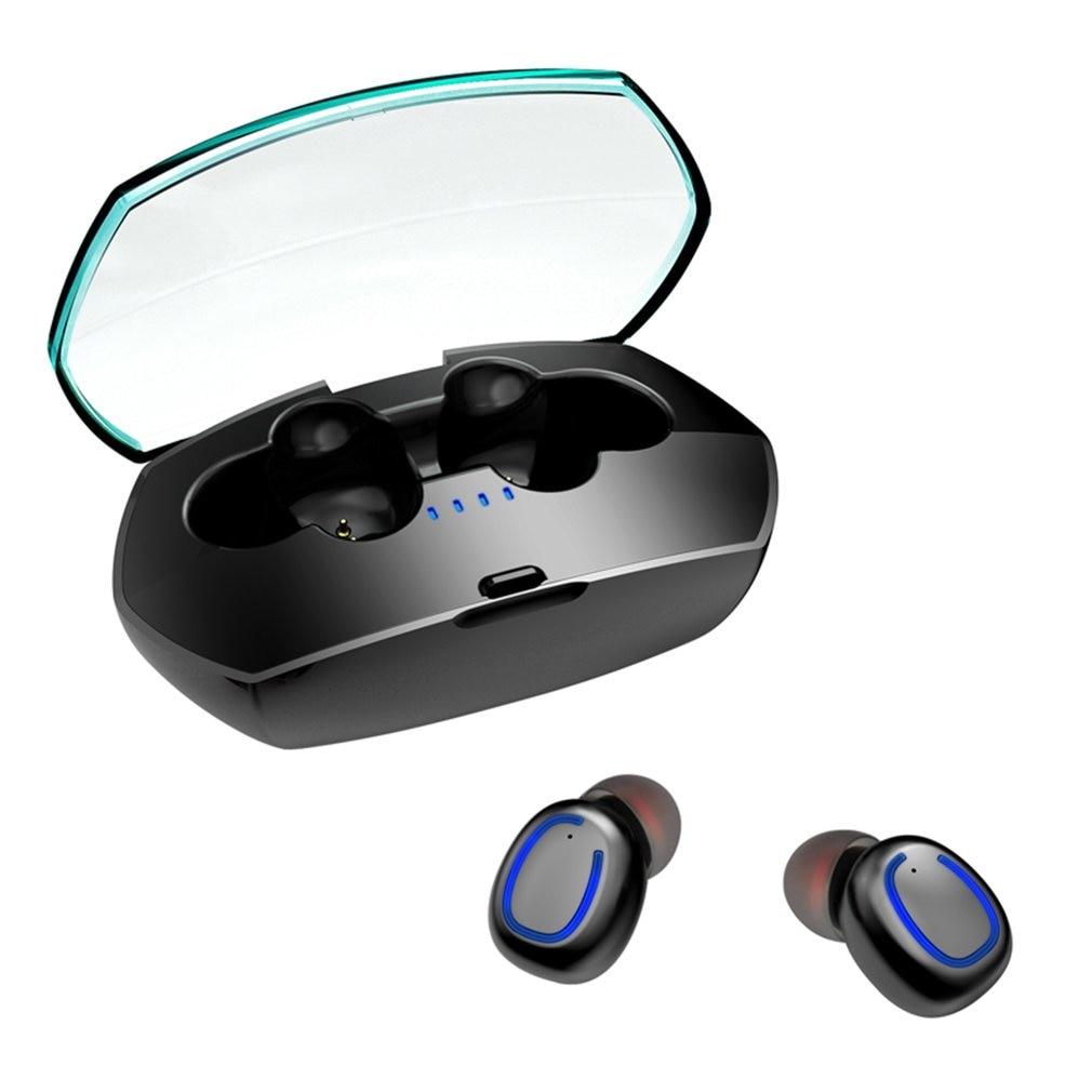 Mini Wireless 5.0 Stereo Headset Waterproof Sport Headphone In-Ear Earphones Earbuds With Charging Socket