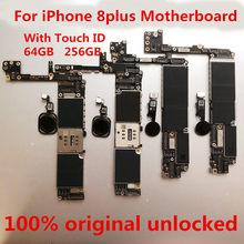 Материнская плата для iPhone 8 plus, материнская плата для iphone 8 plus, логическая плата 256 ГБ с touchID для iPhone 8 plus