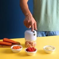 250ml Usb 프레스 Mincer 전기 마늘 Masher 크러셔 야채 칠리 고기 분쇄기 식품 쵸퍼 주방 기계 가제트
