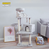 CAWAYI KENNEL Pet Cat Sisal Climbing Tree Kitten Scraper Board Scratching Post For Cats Jumping Platform mascotas rascador gato