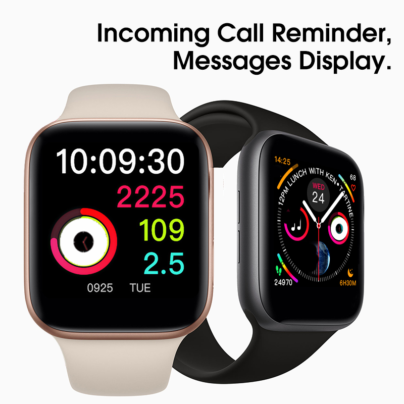 35%off 42mm Smart Watch Series 4 Clock Push Message Bluetooth Connectivity For Android phone IOS apple iPhone 6 7 8 X Smartwatch
