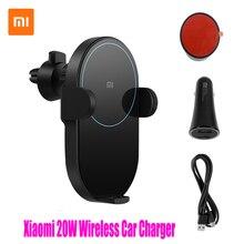 100% Xiao mi mi 20 واط ماكس تشى شاحن سيارة لاسلكية WCJ02ZM مع ذكي مستشعر الأشعة تحت الحمراء سريع شاحن سيارة حامل هاتف