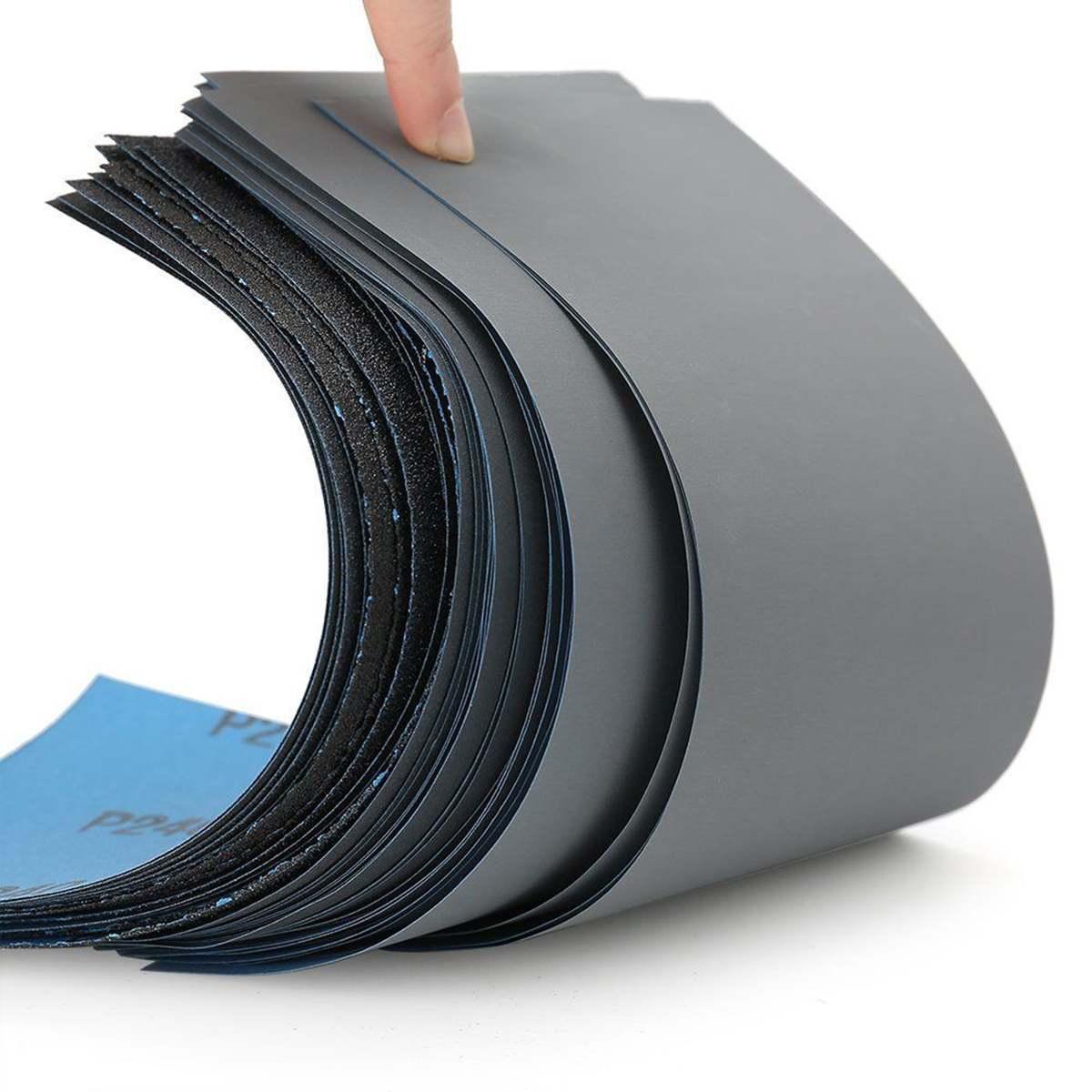 45PCS  Wet Dry Sandpaper, High Grit 120-5000 Sandpaper Sheets Assortment For Wood Metal Polishing Automoti