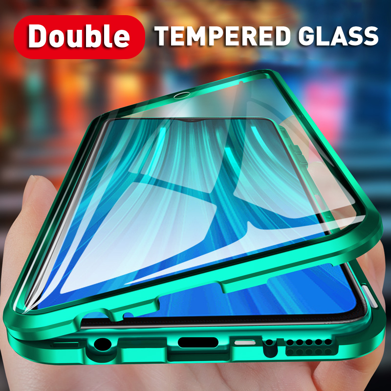 Magnetic Case For Redmi Note 8 7 K20 10 Pro Mobile Cover For Xiaomi Mi 9T 8 CC9e 9 SE A3 Lite Double-Sided Tempered Glass Fundas image