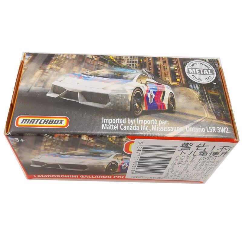 2020 Matchbox Cars 1:64 Car LAMBORGHINIS GALLARDO POLICE Metal Diecast Alloy Model Car Toy Vehicles