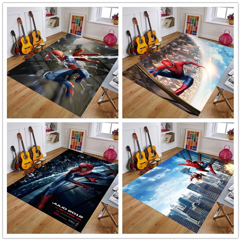 Spiderman  Playmat Baby Rug Kitchen Room& Bathroom  Carpet Living Room Carpet Birthday Gift Doormat Carpet Mat Multiple Sizes