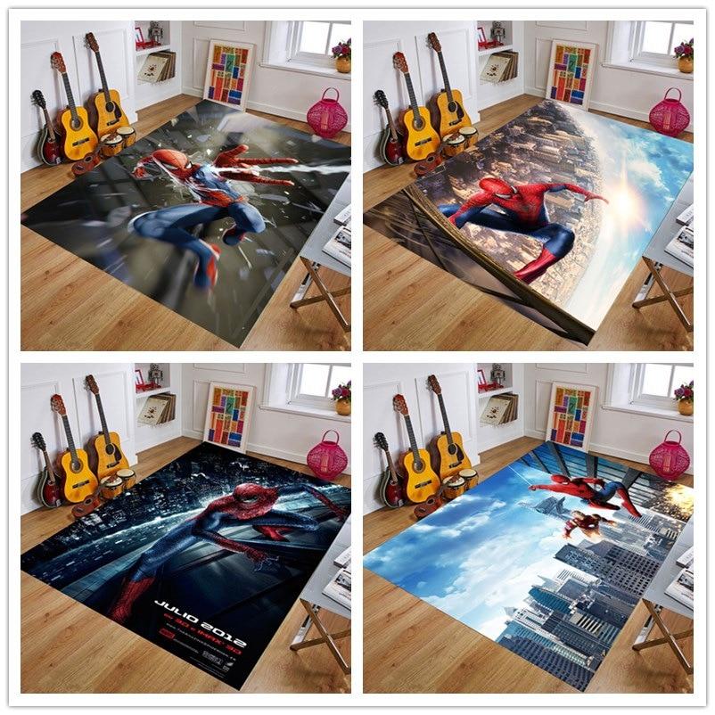 Spiderman  Playmat Baby Rug Kitchen Room& Bathroom  Carpet Living Room Carpet Birthday Gift Doormat Carpet Mat Multiple Sizes