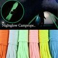 20 метров Паракорд для выживания светящаяся веревка для лагеря светящийся Паракорд 550LB 7 нитей Парашютные Шнуры Веревки для кемпинга оборудо...