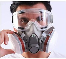 6200 Type Gas Mask Industrial Half Face Painting Spraying Respirator with Protective Glasses Suit Safety Work Filter Replace