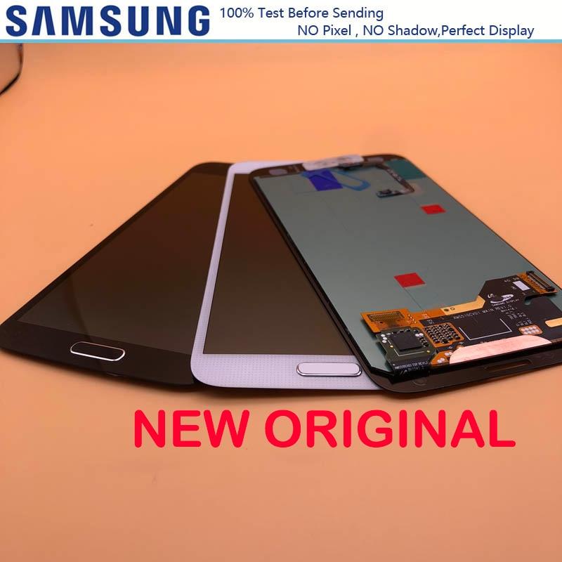 NEW ORIGINAL 5.1'' LCD Display For SAMSUNG Galaxy S5 i9600 G900 G900F G900M G900H SM-G900F LCD Touch Screen With HomeButton(China)
