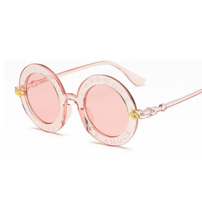2020 New Fashion okrągła oprawka okulary przeciwsłoneczne damskie w stylu Vintage okulary przeciwsłoneczne damskie wzór pszczoły marka projektant UV400