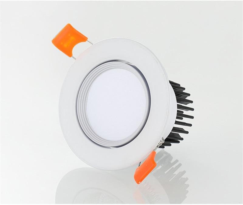 led downlight 5w7w9w12w15w18w cob conduziu a luz