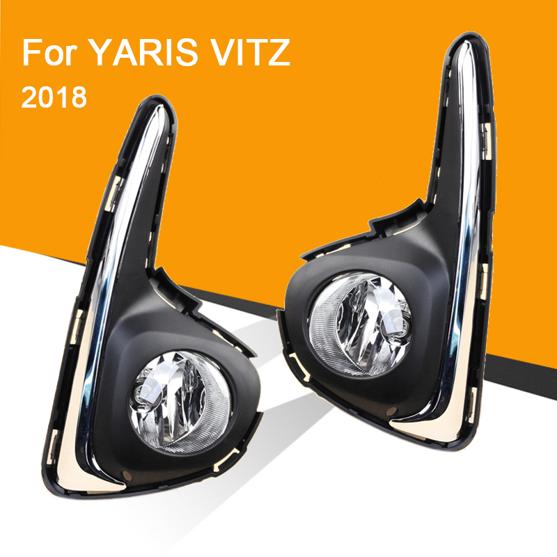 Car Fog Lamp Assembly With Fog Light And Wire Relay Switch For Yaris Hatchback Vitz 2018 Front Bumper Fog Light