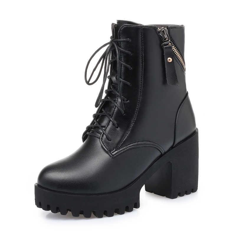 Aiyuqi Nữ Trần Giày Mới 2020 Chính Hãng Da Giày Bốt Nữ Len Tự Nhiên Ấm Nữ Mùa Đông Khỏa Thân Giày Mùa Đông Nữ Giày