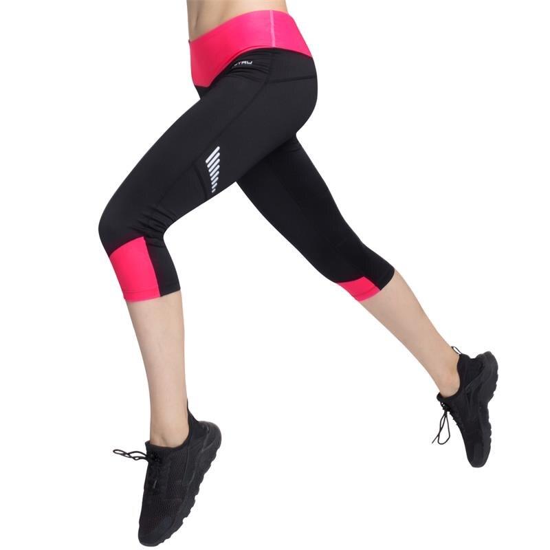 Vutru Womens Capri Pants Sport Yoga Calf-length Pants Running Tights Sports Fitness Slim high waist Leggings Women Trousers tights