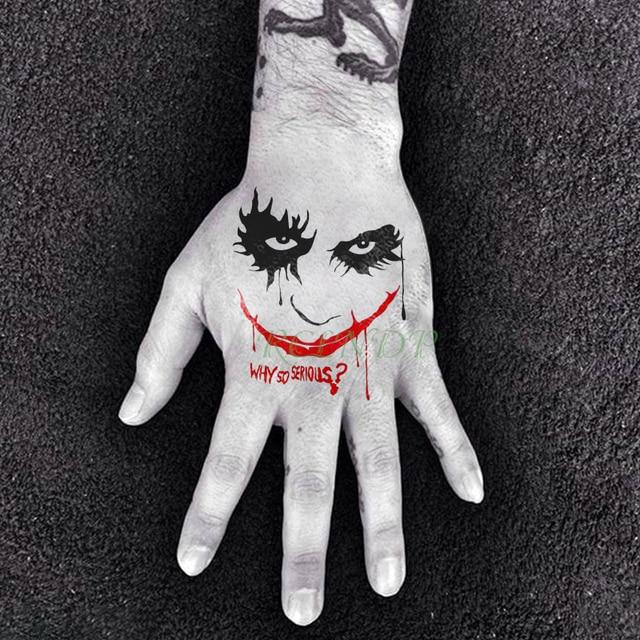 Waterproof Temporary Tattoo Sticker Tatoo Suicide Squad Harley Quinn Joker Tatto Body Flash Fake Tatoos for Kids Girl Women Men 2