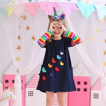 VIKITA Kids Girls Dress Baby Children Toddler Princess Dress Vestidos Children's Clothing Girls Autumn Winter Dresses 3-8 Years 2