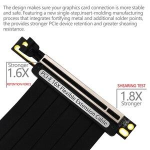Image 5 - Pcie 3.0 × 16 pci expressライザー延長ケーブル柔軟な高速90度gup用led付グラフィックスカード