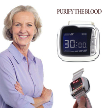 650nm Laser Therapy Instrument Diode LLLT for Diabetes Hypertension Treatment Watch Laser Sinusitis Apparatus Cholesterol 650nm laser therapy wrist low frequency hypertension hyperlipidemia hyperviscosity cholesterol treatment laser therapy watch