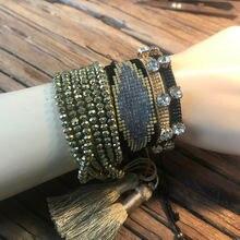 Женский браслет из бисера miyuki ручной работы