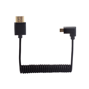Image 4 - MICRO HDMI D TYPE HDMI compatible Digital Single Lens Reflex 4K HD stretch Coiled spring cable thin cable LEFT UP DOWN RIGHT