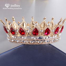 CC Tiaras and Crowns Hairbands Engagement Wedding Hair Accessories for Women Vintage Crown Jewelry Luxury Party Headdress YQ20