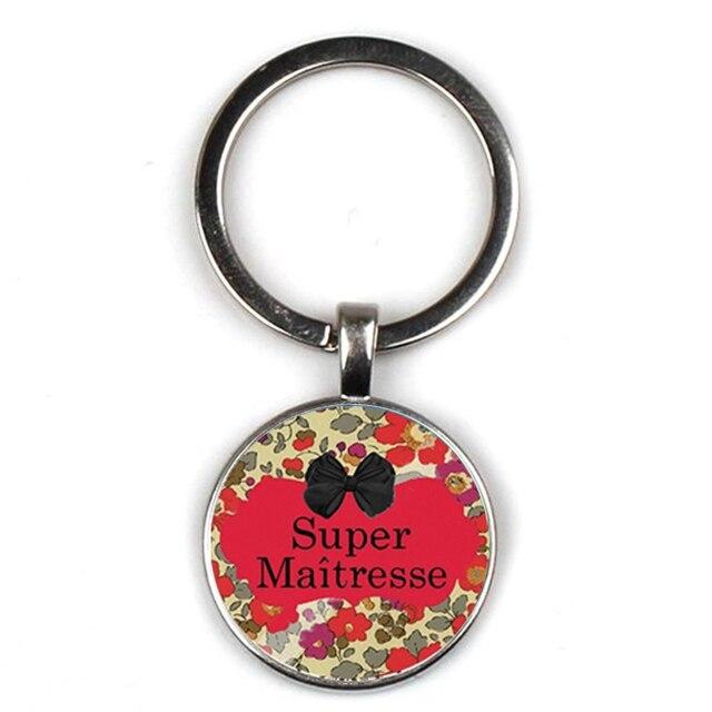 Glamour Super Herrin Text Keychain Mode Persönlichkeit Muster Dank Mom Schlüsselring Männer Frauen Dekoration Auto Schlüssel Zubehör geschenk