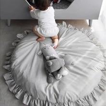 Мягкий детский коврик, игрушки, хлопковый кружевной меховой коврик для новорожденных, Круглый Пол, игровой коврик, коврик для детей, Детский игровой коврик, декор для комнаты
