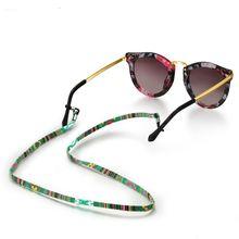 Солнцезащитные очки шнур противоскользящие шеи веревка очки цепочка для очков ремешок инструмент Регулируемый практичный красочный хлопок Этническая кожа
