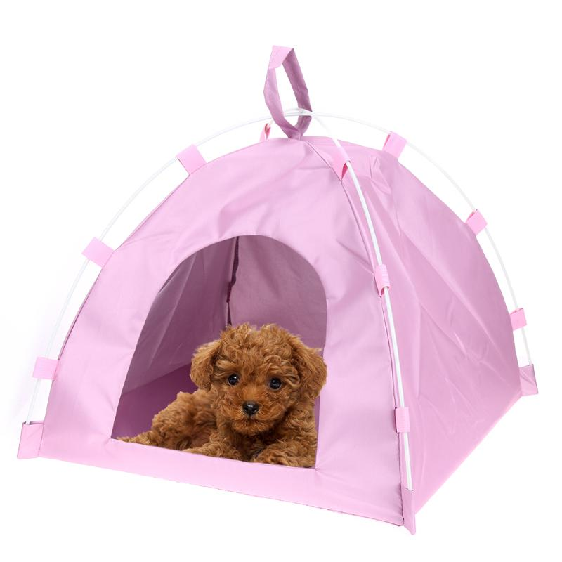 Waterproof Oxford Pets Houses Tent <font><b>Dog</b></font> Cat Playing Bed <font><b>Portable</b></font> Folding Mat Home Charming Little <font><b>Kennel</b></font> for Small Pets cats <font><b>dogs</b></font> image