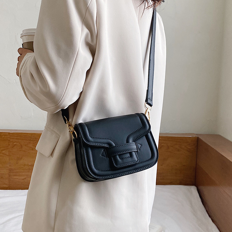 Small Solid Color Pu Leather Crossbody Bags For Women 2020 Fashion Shoulder Messenger Bag Lady Travel Handbags