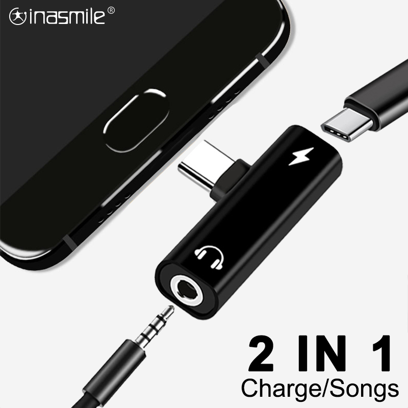 2 In 1 USB Type C To 3.5mm Earphone Adapter For Leeco Le Max 2/Pro 3 S3 Aux Audio Cable Headphone Charger Charging Converter