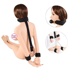 Hand foot and back cuff combination binding strap adult sex toys handcuffs BDSM Bondage Gear
