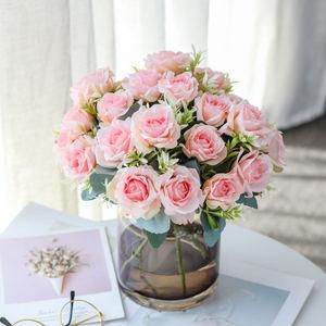 Artificial dry flower / artificial flower rose home garden wedding party decoration DIY
