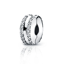 2019 Winter New Arrival 925 Sterling Silver Beads Double Lined Pave Clip Charms fit Original Pandora Bracelets Women DIY Jewelry new arrival 100% new beads sparkling pave charms cz fit original pandora bracelets women diy jewelry