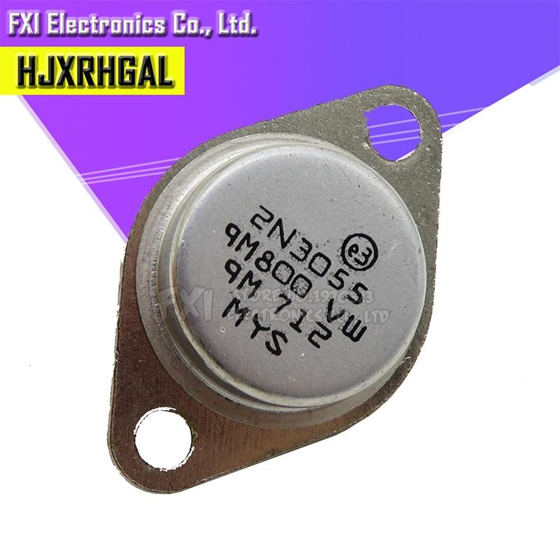 5PCS Transistor 2N3055 TO-3 15A 60V NPN AF Amp Au New Original