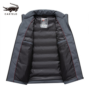 Image 3 - Mens White Duck Down Jacket Winter Slim Hooded Down Coat Selected Feather Clothing  for Men 9231 New 2019