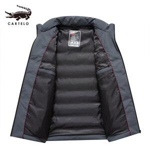Image 3 - ผู้ชายเป็ดสีขาวลงเสื้อแจ็คเก็ตฤดูหนาว Slim Hooded Down Coat Selected Feather เสื้อผ้าสำหรับชาย 9231 ใหม่ 2019