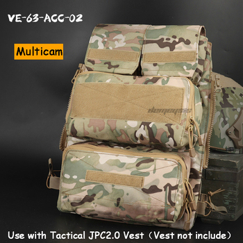 Tactical Jpc Vest Accessory Bags Molle System Military Shooting Hunting Vest Pouches Bag Airsoft Paintball Durable Accessory Bag