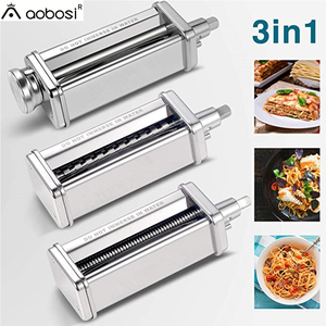 1set Pasta Maker Attachments Set for KitchenAid Stand Mixer, including Pasta Sheet Roller, Spaghetti Cutter, Fettuccine Cutter