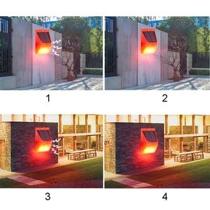 Image 4 - Солнечный звуковой сигнал Лампа вспышка Предупреждение светильник оповещения движения PIR Сенсор строба сирены охранной сигнализации Системы для фермы дома во дворе на открытом воздухе