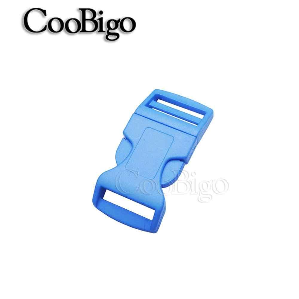 """1pcs Pack Kleurrijke 5/8 """"Zijsluiting Gebogen Plastic Paracord Armbanden Halsband Outdoor Rugzak Zakken Onderdelen"""