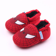 Disney Cute Newborn Baby Boys Infant Shoes Winter Soft Cotton Baby First Walker Baby Shoes Boy Toddler Keep Warm Thick shoes cheap Cotton Fabric Butterfly-knot All seasons Slip-On Cartoon Animation Unisex First Walkers Fits smaller than usual Please check this store s sizing info