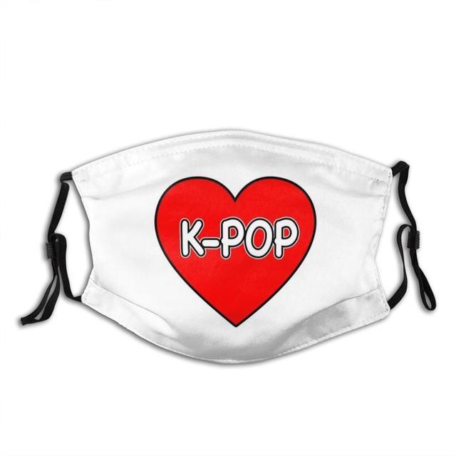 I Love K - Pop Face Mask With Filter Kpop K Pop I Love K Pop K Pop Lover Korean Pop Music Pop Music Music Lover K Pop Fan K Pop
