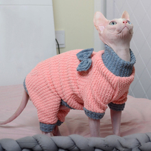 Hoodies Sphinx Hairless Cats And Winter for Sweater Warm Autumn Sweet Chothing